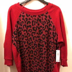 Bongo Cheetah Print Shirt- Size shirt